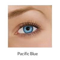 Голубые цветные контактные линзы FreshLook Dimensions Pacific Blue