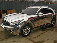 Пленка Хром Зеркальная Глянцевая Отражающая Серебро/Бронза для авто 152х30 см