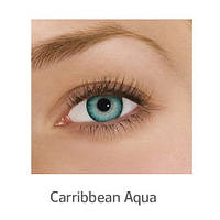 Голубые цветные контактные линзы FreshLook Dimensions Carribbean Aqua