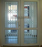 Раздвижная решетка на дверь Шир.1500*Выс2600мм для магазина и офиса