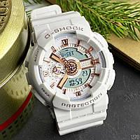 Спортивные Часы Casio G-Shock Белые GA-110 White-Cuprum