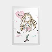Постер на стену в детскую Девочка 30*40 см