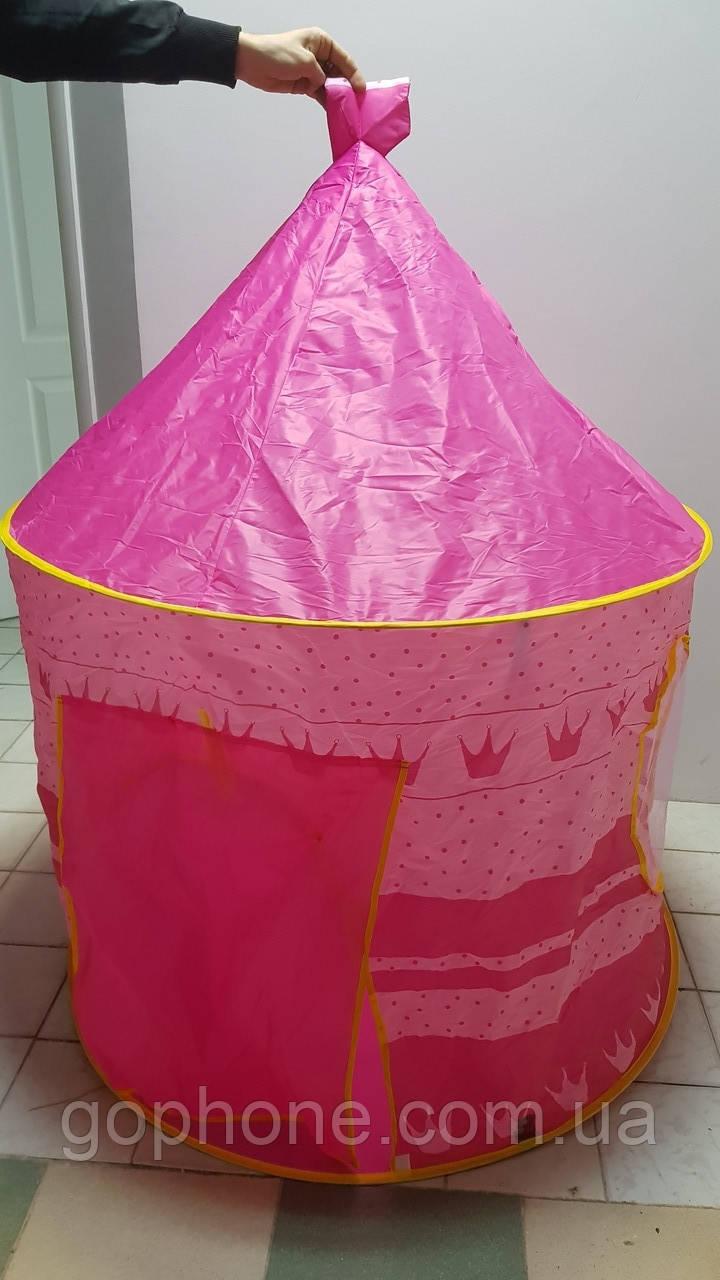 Большая детская палатка-шатёр CUBBY HOUSE (Розовая)