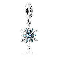 Шарм-подвеска «Блестящая снежинка» из серебра Pandora, 791761NBLMX