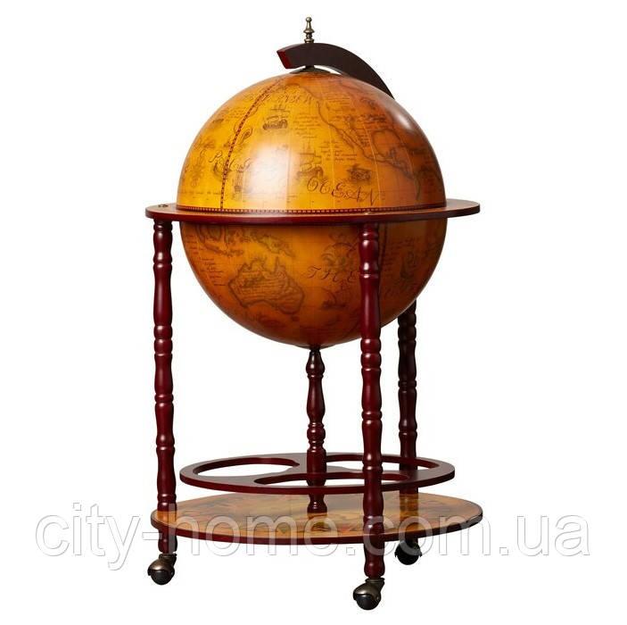 Глобус бар підлоговий на 4 ніжки 420 мм коричневий 42003R