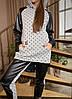 Жіночий костюм спортивний з шкіряними вставками, з 42-60 розмір
