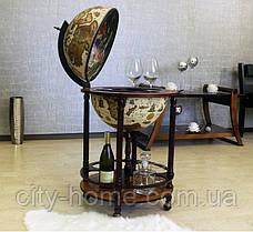 Глобус бар напольный на 4 ножки 420 мм беж-темная вишня 42003W-R, фото 2