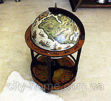 Глобус бар напольный на 4 ножки 420 мм беж-темная вишня 42003W-R, фото 3