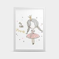 Постер на стену в детскую Девочка Принцесса 20*30 см
