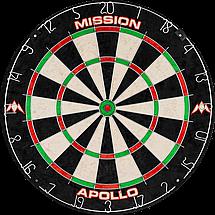 Фирменный набор для игры в дартс Mission мишень+кабинет+дротики, фото 3