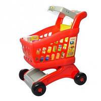 Игровая тележка-супермаркет с кассовым аппаратом и продуктами