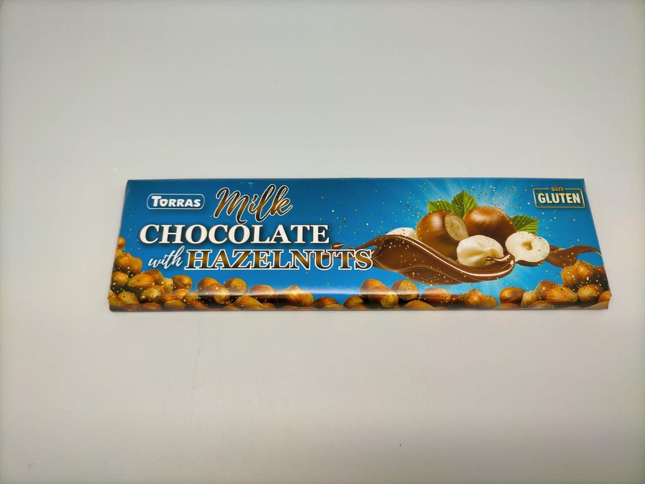 Шоколад молочный без глютена Торрас с фундуком Torras Milk Huzelnuts 300 г Испания