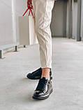 Стильні кросівки Alexander McQueen (Олександр Маквин) Light Beige Patent LUX QUALITY, фото 2
