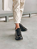 Стильні кросівки Alexander McQueen (Олександр Маквин) Light Beige Patent LUX QUALITY, фото 3