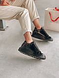 Стильні кросівки Alexander McQueen (Олександр Маквин) Light Beige Patent LUX QUALITY, фото 4