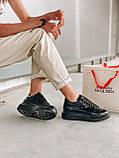 Стильні кросівки Alexander McQueen (Олександр Маквин) Light Beige Patent LUX QUALITY, фото 7