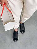 Стильні кросівки Alexander McQueen (Олександр Маквин) Light Beige Patent LUX QUALITY, фото 8