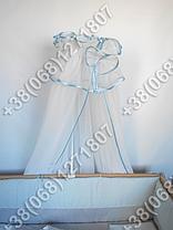 Детское постельное белье в кроватку с вышивкой Песик, комплект 9 ед. (голубой), фото 2