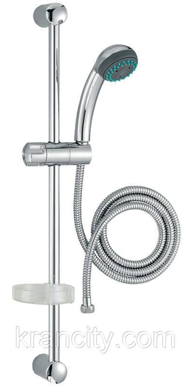 Душевой набор JACOB DELAFON BASIC  E14325-CP,штанга,лейка ,шланг,мыльница,Франция