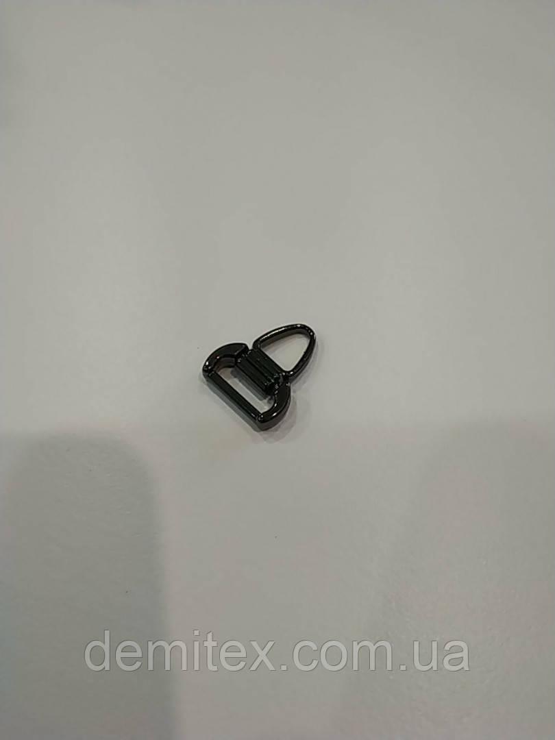 Пуллер на бегунок черный никель ширина ушка 10мм