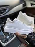 Стильны кроссовки Alexander McQueen White LUX QUALITY (Александр Маквин), фото 2