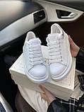 Стильны кроссовки Alexander McQueen White LUX QUALITY (Александр Маквин), фото 8