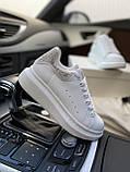 Стильны кроссовки Alexander McQueen White LUX QUALITY (Александр Маквин), фото 7