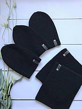 Демисезонныйдетский вязаный наборшапка и снуд для мальчика и девочки ручной работы веснаосень.