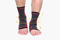 Бандаж на голеностопный сустав AOLIKES черно красный 01286