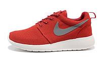 Кроссовки женские беговые Nike Roshe Run (найк роше ран, оригинал) красные