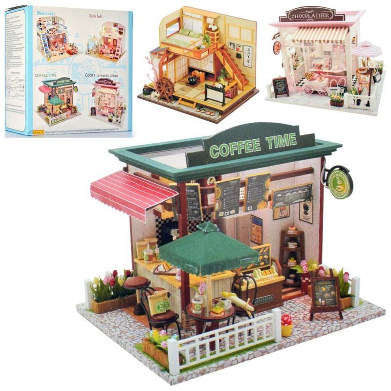 Деревянная игрушка Домик MD 2504 (20шт) мебель,аксессуары(сделай сам), 3в,бат, кор, 21,5-19-8см