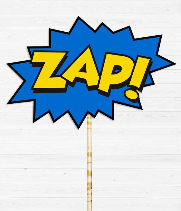 """Табличка для фотосессии """"ZAP!"""""""