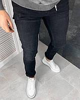 Чоловічі джинси завужені чорні, фото 1