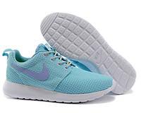 Кроссовки женские беговые Nike Roshe Run (найк роше ран, оригинал) голубые
