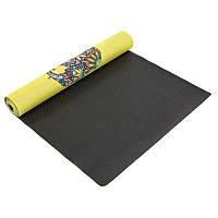 Коврик для йоги джутовый 3мм Record FI-7157-6
