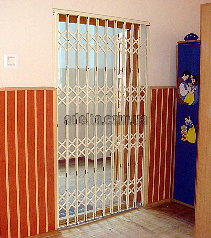 Раздвижная решетка на дверь Шир.1250*Выс2400мм для школ