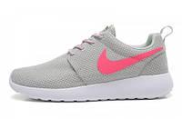 Кроссовки женские беговые Nike Roshe Run (найк роше ран, оригинал) серые 39