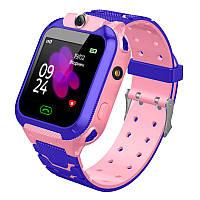 JETIX DF22 LBS Детские умные смарт часы с сенсорным экраном и камерой (Pink)
