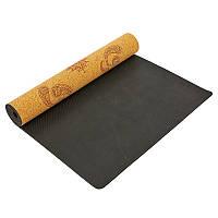 Коврик для йоги джутовый 3мм Record FI-7156-1