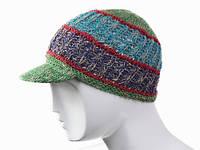 Разноцветная шапка кепка вязанная