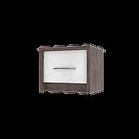 Приліжкова тумба Інтарсіо Virgo P  500х400 мм Дуб ансберг темний + Ультра білий металік (VIRGO_P)