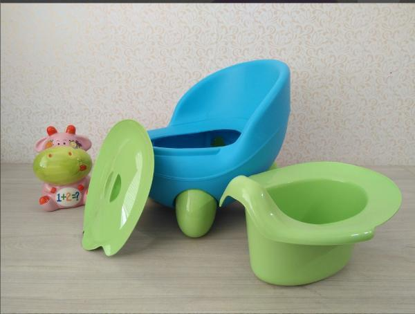 Горшок детский Турция Кью Кью голубой с зеленым