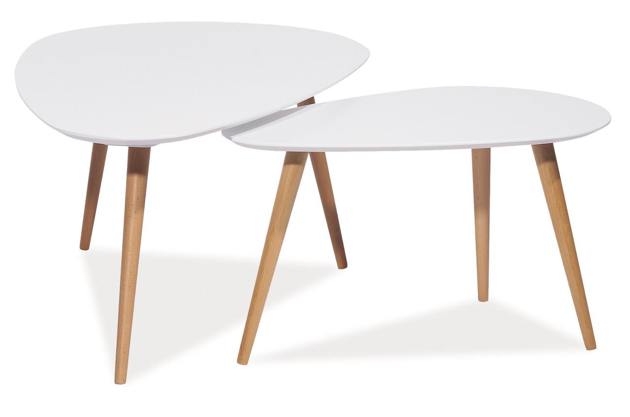 Журнальний стіл Signal Nolan B 115х66 см Білий (NOLANB)