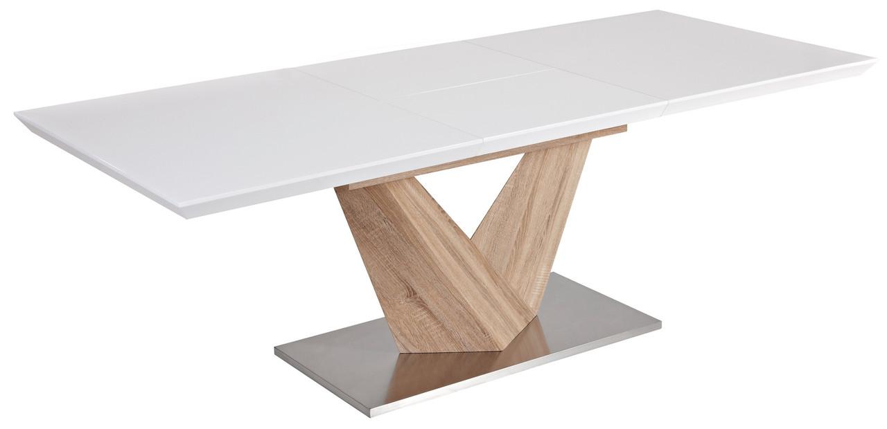 Стол обеденный Signal Мебель Alaras 90(220) х 75 см Белый (ALARAS)