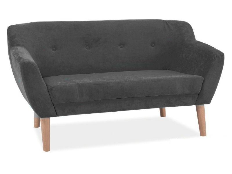 Прямой диван Signal Bergen 2 Темно-серый (BERGEN21618)