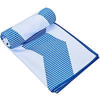 Полотенце для йоги YOGA TOWEL, полиэстер, р-р 75х186см., синий (Y-YGT-(bl))