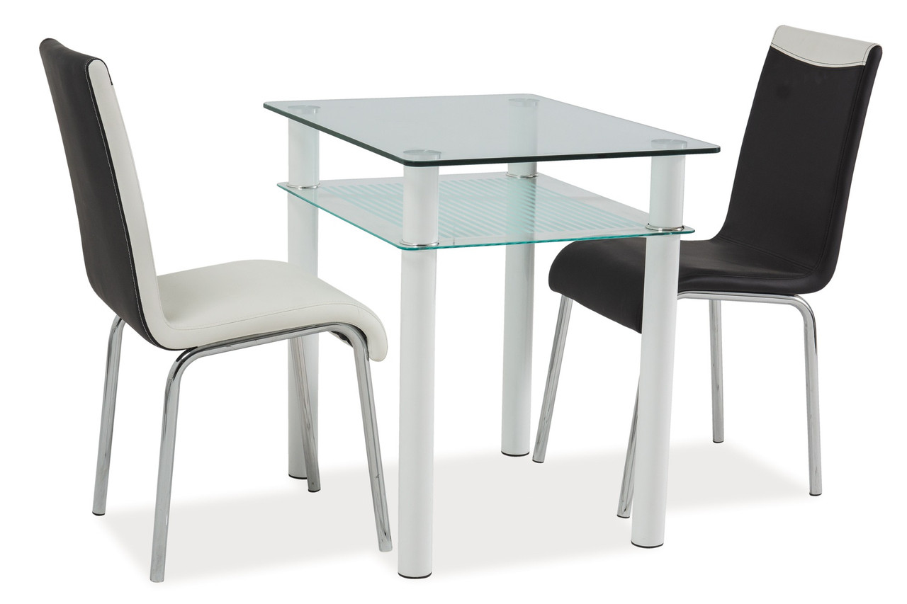 Стол обеденный Signal Sono 80х60 см Прозрачный (SONOTB80)