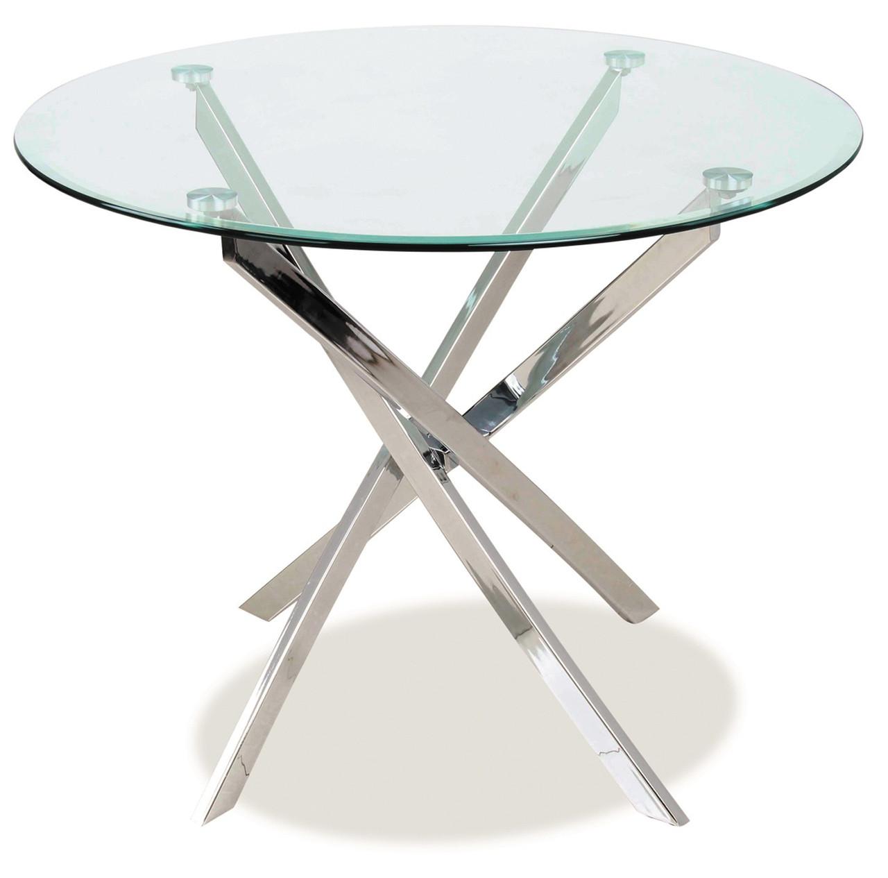 Стіл обідній Меблі Signal Agis 90 х 90 см Прозорий (AGIS)