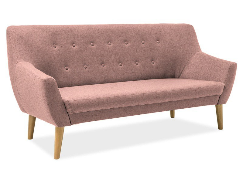 Прямий диван Signal Nordic 3 Рожевий (NORDIC3CABLO12)
