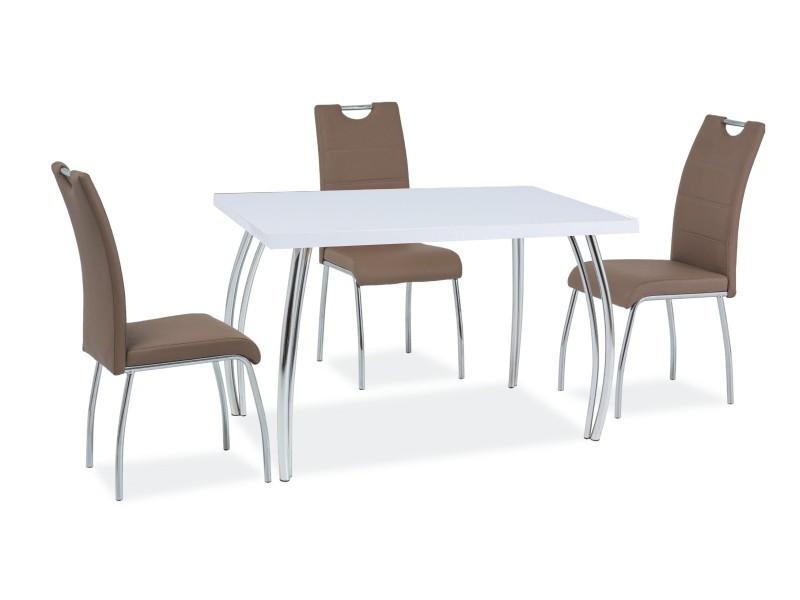 Стол обеденный Signal SK-2 120х68 см Белый (SK2BCH120)